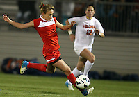 BOYDS, MARYLAND - April 06, 2013:  Caroline Miller (10) of The Washington Spirit balances the ball on her leg against the University of Virginia women's soccer team in a NWSL (National Women's Soccer League) pre season exhibition game at Maryland Soccerplex in Boyds, Maryland on April 06. Virginia won 6-3.