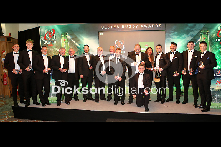 Thursday 10th May 2018 | Ulster Rugby Awards 2018<br /> <br /> The Award Winners at the 2018 Heineken Ulster Rugby Awards at La Mom Hotel, Belfast. Photo by John Dickson / DICKSONDIGITAL