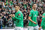 02.11.2019, wohninvest WESERSTADION, Bremen, GER, 1.FBL, Werder Bremen vs SC Freiburg<br /> <br /> DFL REGULATIONS PROHIBIT ANY USE OF PHOTOGRAPHS AS IMAGE SEQUENCES AND/OR QUASI-VIDEO.<br /> <br /> im Bild / picture shows<br /> Jubel 1:0, <br /> Milot Rashica (Werder Bremen #07) bejubelt seinen Treffer zum 1:0 mit Teamkollegen, <br /> <br /> Foto © nordphoto / Ewert