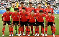 (180623) -- ROSTOV-ON-DON, June 23, 2018 -- Players of South Korea pose for a group photo prior to the 2018 FIFA World Cup WM Weltmeisterschaft Fussball Group F match between South Korea and Mexico in Rostov-on-Don, Russia, June 23, 2018. ) (SP)RUSSIA-ROSTOV-ON-DON-2018 WORLD CUP-GROUP F-SOUTH KOREA VS MEXICO ChenxYichen PUBLICATIONxNOTxINxCHN  <br /> ROSTOV-ON-DON 23-06-2018 Football FIFA World Cup Russia  2018 <br /> South Korea - Mexico / Corea del Sud - Messico<br /> Foto Xinhua/Imago/Insidefoto