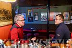 Billy Keane talking to Kerry's Eye journalist Michael Ahern at John B Keanes bar in Listowel