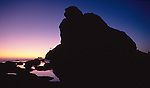 Olympic National Park, Shi Shi Beach, Point of the Arches, Olympic Coast National Marine Sanctuary, Washington State, Pacific Northwest, rocky shore,, sea stacks, sunset,  Pacific Ocean, Northwest coast, Olympic Peninsula, North America, USA,.