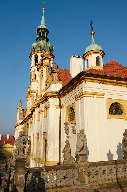 church, Prague, Castle,  Baroque,  Architecture,  Czech, Our Lady of Lorette church