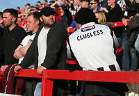 Grimsby Town sends the Grimsby Town manager Marcus Bignot a message <br /> during the Sky Bet League 2 match between Accrington Stanley and Grimsby Town at the Fraser Eagle Stadium, Accrington, England on 25 March 2017. Photo by Tony  KIPAX / PRiME Media Images.