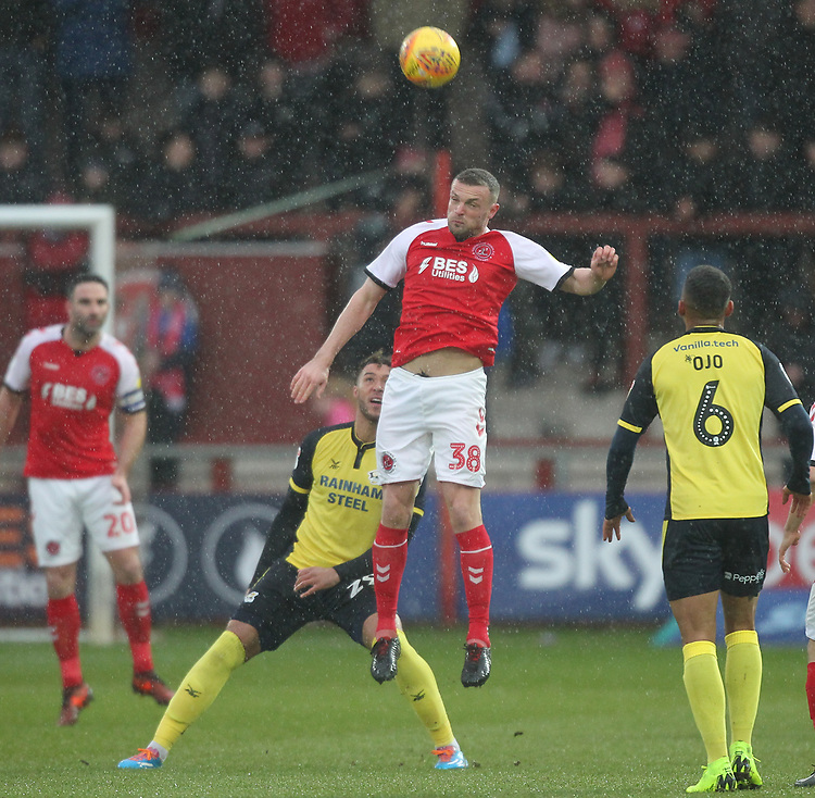 Fleetwood Town's James Wallace <br /> <br /> Photographer Mick Walker/CameraSport<br /> <br /> The EFL Sky Bet League One - Fleetwood Town v Scunthorpe United - Saturday 26th January 2019 - Highbury Stadium - Fleetwood<br /> <br /> World Copyright © 2019 CameraSport. All rights reserved. 43 Linden Ave. Countesthorpe. Leicester. England. LE8 5PG - Tel: +44 (0) 116 277 4147 - admin@camerasport.com - www.camerasport.com