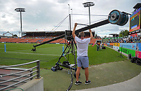 Skysport staff.  Day one of the 2018 HSBC World Sevens Series Hamilton at FMG Stadium in Hamilton, New Zealand on Saturday, 3 February 2018. Photo: Dave Lintott / lintottphoto.co.nz