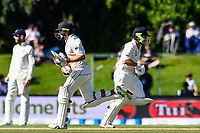 Tom Latham (l) and BJ Watling of the Black Caps during the final day of the Second International Cricket Test match, New Zealand V England, Hagley Oval, Christchurch, New Zealand, 3rd April 2018.Copyright photo: John Davidson / www.photosport.nz