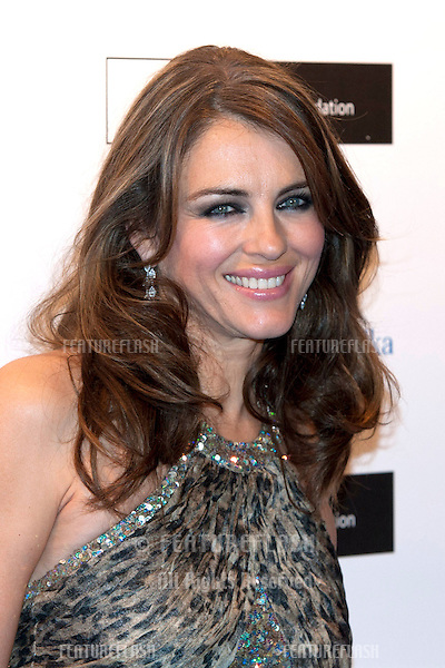 Elizabeth Hurley arriving for the Grey Goose Ball 2012, Battersea Power Station, London. 10/11/2012 Picture by: Simon Burchell / Featureflash