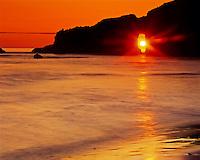 Second Beach at Sunset, Rialto Beach, near La Push,  Olympic National Park, Washington