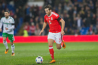 Adam Matthews of Wales during the International Friendly match between Wales and Northern Ireland at Cardiff City Stadium, Cardiff, Wales on 24 March 2016. Photo by Mark  Hawkins / PRiME Media Images.