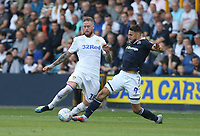 Leeds United's Pontus Jansson and Millwall's Lee Gregory<br /> <br /> Photographer Rob Newell/CameraSport<br /> <br /> The EFL Sky Bet Championship - Millwall v Leeds United - Saturday 15th September 2018 - The Den - London<br /> <br /> World Copyright &copy; 2018 CameraSport. All rights reserved. 43 Linden Ave. Countesthorpe. Leicester. England. LE8 5PG - Tel: +44 (0) 116 277 4147 - admin@camerasport.com - www.camerasport.com