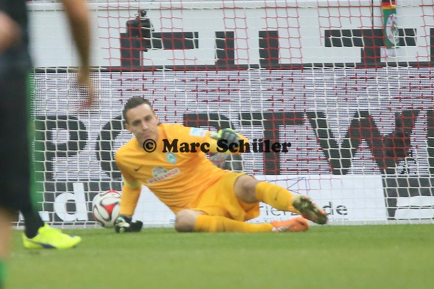Raphael Wolf (Werder) geschlagen beim 1:0 - 1. FSV Mainz 05 vs. SV Werder Bremenl, Coface Arena