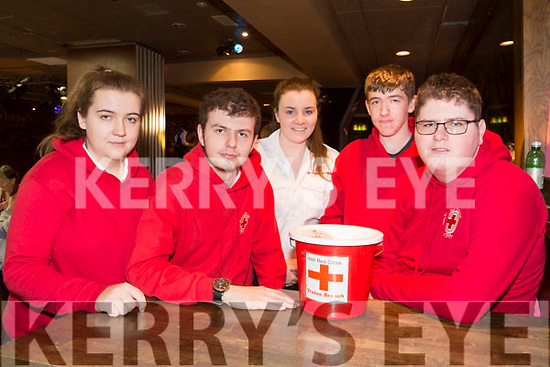 Volunteers at the  Irish Red Cross Tea party at the Grand Hotel on Sunday were Ciara Lynch, Donal Walsh, Ashlyn Mcloughlin, Dara McGoven and Davin Godfrey