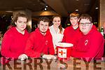 Volunteers at the  Irish Red Cross Tea party at the Grand Hotel on Sunday were Ciara Lynch, Donal Walsh, Ashlyn Mcloughlin, Dara McGoven and Davin Godfrey