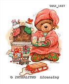 GIORDANO, CHRISTMAS ANIMALS, WEIHNACHTEN TIERE, NAVIDAD ANIMALES, Teddies, paintings+++++,USGI1657,#XA#