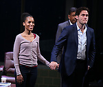 Kerry Washington and Steven Pasquale during the Broadway Opening Night Curtain Call for 'AMERICAN SON' at the Booth Theatre on November 4, 2018 in New York City.