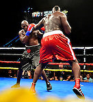HOLLYWOOD, FL - SEPTEMBER 05: Terrance Marbra (L), fight Ernest Zeus Mazgck during the World Heavyweight Champions Fight Night at Hard Rock Live! in the Seminole Hard Rock Hotel & Casino on September 5, 2015 in Hollywood, Florida. Briggs won the bout by second round KO. ( Photo by Johnny Louis / jlnphotography.com )