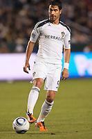 LA Galaxy forward Juan Pablo Angel. The LA Galaxy defeated the Philadelphia Union 1-0 at Home Depot Center stadium in Carson, California on  April  2, 2011....