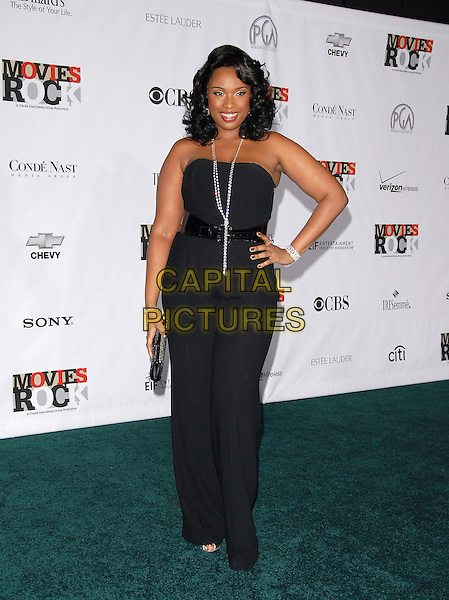 JENNIFER HUDSON.Attending Movies Rock, a Celebration of Music in Film held at The Kodak Theatre in Hollywood, California, USA, December 02 2007..full length black strapless top hand on hip.CAP/DVS.©Debbie VanStory/Capital Pictures