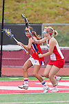 Redondo Beach, CA 05/14/11 -  Lauren Actkinson (Los Alamitos #1) and Hailey Newman (Redondo Union #6)in action during the 2011 US Lacrosse / CIF Southern Section Division 1 Girls Varsity Lacrosse Championship, Los Alamitos defeated Redondo Union 17-5.