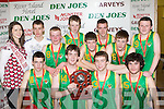 Da Young Guns who defeated The Ultra's in the Senior Mens final at the St Mary's Basketball Blitz in Castleisland on Wednesday front row l-r: Michael Horan, Sean McCarthy, Robert Shanahan, Sean Daly. Back row: Louise O'connor Miss Basketball, Donagh O'Connell, Hugh Herlihy, Greg O'Connor, Eamon McLoughlin, JJ Casey, Shane Reilly and Graham O'Connor