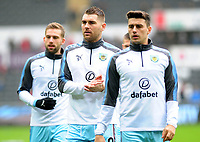 Burnley's Sam Vokes during the pre-match warm-up <br /> <br /> Photographer Ashley Crowden/CameraSport<br /> <br /> The Premier League - Swansea City v Burnley - Saturday 10th February 2018 - Liberty Stadium - Swansea<br /> <br /> World Copyright &copy; 2018 CameraSport. All rights reserved. 43 Linden Ave. Countesthorpe. Leicester. England. LE8 5PG - Tel: +44 (0) 116 277 4147 - admin@camerasport.com - www.camerasport.com