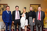 Baby Shielagh Grace O'Sullivan with her parents Kieran O'Sullivan & Tima Harnett, Abbeyfeale and god parents Timothy O'Sullivan & Ailish Harnett & grand father Tim Harnett who was christened in Asdee  Church by Fr. Michael Hussey on Tuesday last and afterwards at the Listowel Arms Hotel