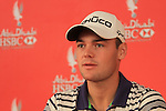 Defending Champion Martin Kaymer speaking at a press conference on Wednesday before the start of the Abu Dhabi HSBC Golf Championship 2011, and announcing his sponsorship deal with Hugo Boss..Picture Fran Caffrey/www.golffile.ie.
