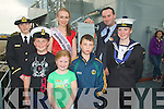 "..LONDON: Catherine Kenny (London Rose) with her escort Christopher Kelly meet up with supporters on The Naval Ship ""Aoife"" on Saturday in Fenit. L-r: Deirdre Owens (Aoife Naval Ship), Aaron, Andrea and Lianna William, Amie Rush (""Aoife Naval Ship) and Christopher Kelly (escort).. ...."