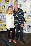 Christina Applegate and Ron Pearlman arriving at the The Book Of Life Panel at Comic-Con 2014  at the Hilton Bayfront Hotel in San Diego, Ca. July 25, 2014.
