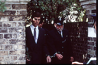 Pix: Copyright Anglia Press Agency/Archived via SWpix.com. The Bamber Killings. August 1985. Murders of Neville and June Bamber, daughter Sheila Caffell and her twin boys. Jeremy Bamber convicted of killings serving life...copyright photograph>>Anglia Press Agency>>07811 267 706>>..Jeremy Bamber leaves court. no date..ref 0005 neg 13....