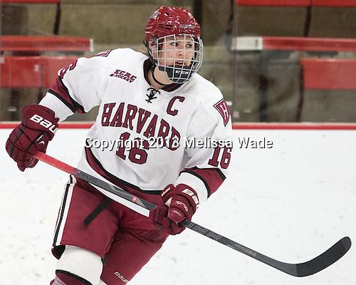 Marissa Gedman (Harvard - 16) - The Harvard University Crimson defeated the visiting Boston University Terriers 3-1 on Friday, November 22, 2013, at Bright-Landry Hockey Center in Cambridge, Massachusetts.