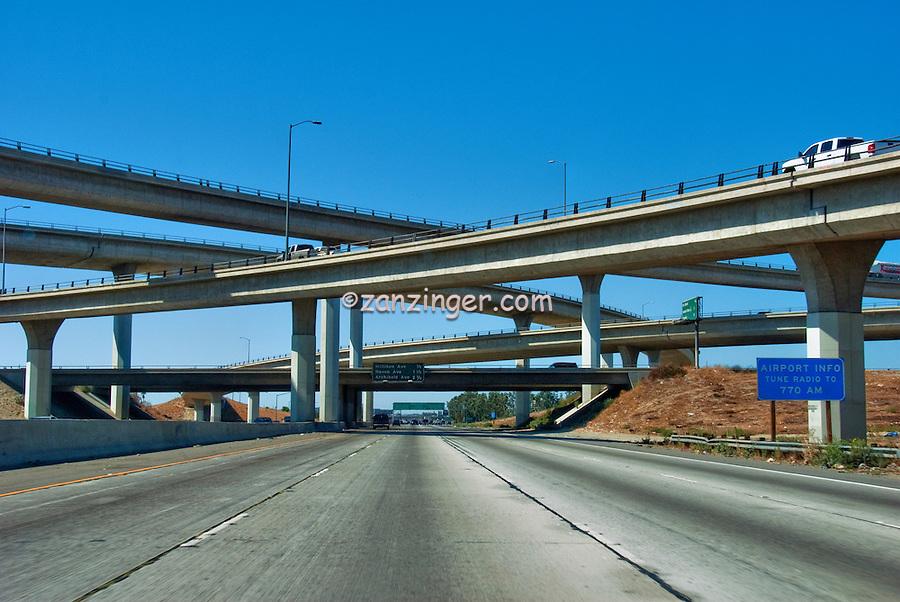 Interstate Highway, 210  California, east-west freeway, Interchange