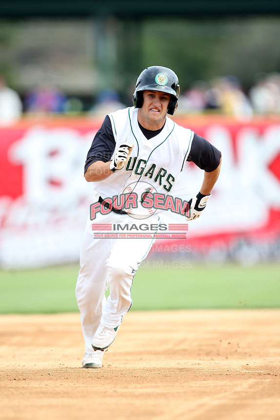 April 11 2010: Conner Crumbliss of the Kane County Cougars at Elfstrom Stadium in Geneva, IL. The Cougars are the Low A affiliate of the Oakland A's. Photo by: Chris Proctor/Four Seam Images