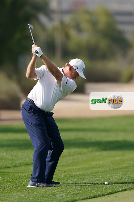 Ernie Els (RSA) on the 12th fairway during the third round of the Omega Dubai Desert Classic, Emirates Golf Club, Dubai, UAE. 26/01/2019<br /> Picture: Golffile | Phil Inglis<br /> <br /> <br /> All photo usage must carry mandatory copyright credit (© Golffile | Phil Inglis)