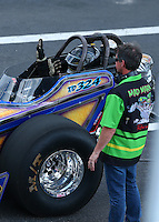 Mar 20, 2016; Gainesville, FL, USA; NHRA top dragster driver XXXX during the Gatornationals at Auto Plus Raceway at Gainesville. Mandatory Credit: Mark J. Rebilas-USA TODAY Sports