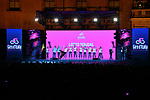 Lotto-Soudal on stage at the Teams Presentation held in Piazza Maggiore Bologna before the start of the 2019 Giro d'Italia, Bologna, Italy. 9th May 2019.<br /> Picture: Massimo Paolone/LaPresse | Cyclefile<br /> <br /> All photos usage must carry mandatory copyright credit (&copy; Cyclefile | Massimo Paolone/LaPresse)