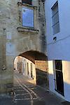 Traditional historic  buildings in Vejer de la Frontera, Cadiz Province, Spain