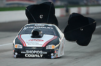 Sept. 1, 2012; Clermont, IN, USA: NHRA pro stock driver Dave Connolly during qualifying for the US Nationals at Lucas Oil Raceway. Mandatory Credit: Mark J. Rebilas-