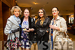 l-r  Niamh O'Sullivan, Linda Patterson, Louise Dennehy and Sharon Brown enjoying the Joanne Barry's Destiny Dance  Academy Fashion Show at the Fels Point Hotel on Sunday