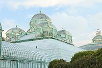 Belgique, Bruxelles, Laeken, le domaine royale du château de Laeken, les serres de Laeken durant la période d'ouverture au public au printemps, la serre du Congo // Belgique, Bruxelles, Laeken, the royal castle domain, the greenhouses of Laeken in spring, The Greenhouse of Congo.