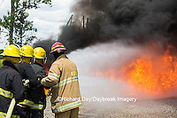 63818-02613 Firefighters at oilfield tank training, Marion Co., IL