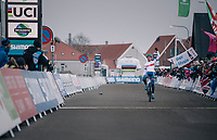 A dominant Ben Tulett (GBR) wins the Men&rsquo;s Junior race<br /> <br /> UCI 2019 Cyclocross World Championships<br /> Bogense / Denmark<br /> <br /> &copy;kramon