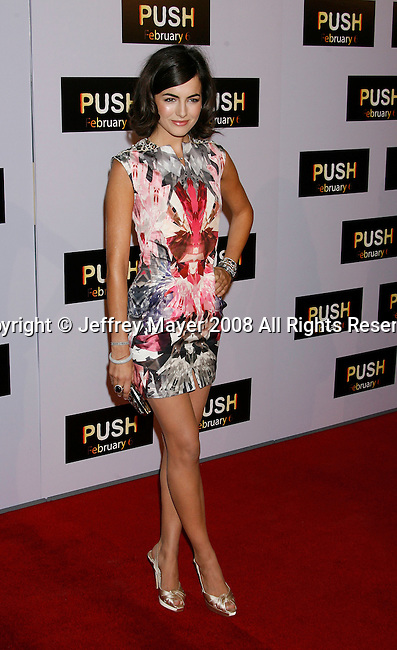 """WESTWOOD, CA. - January 29: Actress Camilla Belle arrives at the Los Angeles Premiere of """"Push"""" at the Mann Village Theater on January 29, 2009 in Westwood, California."""