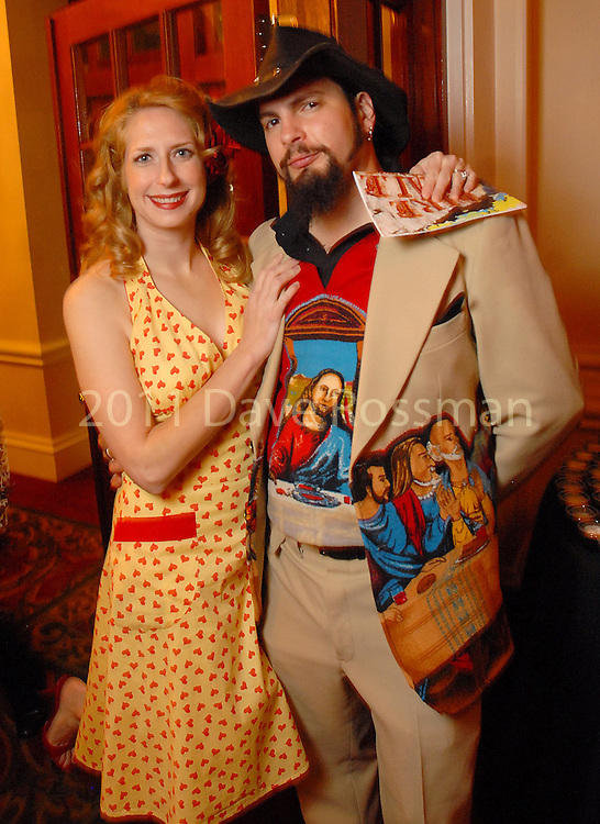The Rev. Butter and his wife Mrs. Rev. Butter at the Diverse Works Fire Sale Gala at the Rice Hotel Friday  March 27,2009.(Dave Rossman/For the Chronicle)