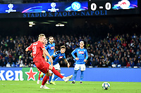 Erling Braut Haland of FC Salzburg scores on penalty the goal of 0-1 for his side<br /> Napoli 05-11-2019 Stadio San Paolo <br /> Football Champions League 2019/2020 Group E<br /> SSC Napoli - FC Salzburg<br /> Photo Antonietta Baldassarre / Insidefoto
