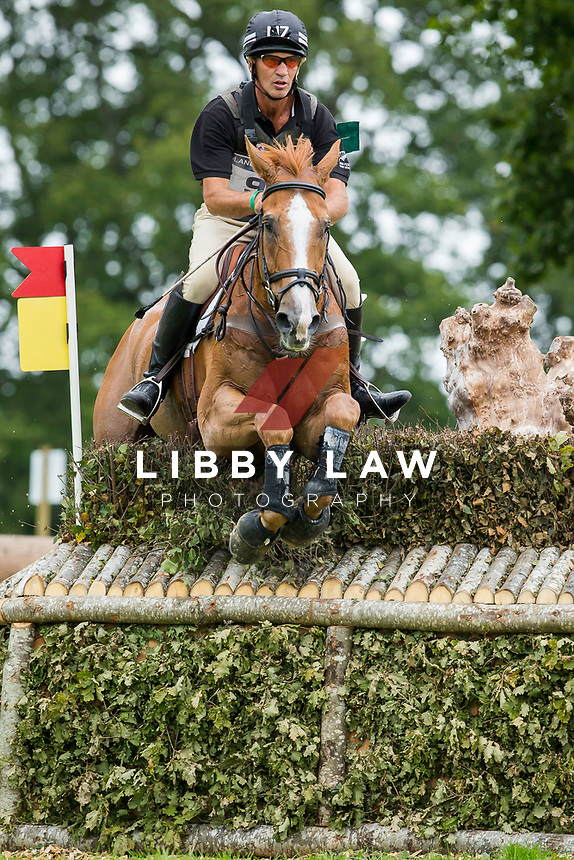 NZL-Andrew Nicholson (NEREO) INTERIM-5TH: CROSS COUNTRY: EVENTING: The Alltech FEI World Equestrian Games 2014 In Normandy - France (Saturday 30 August) CREDIT: Libby Law COPYRIGHT: LIBBY LAW PHOTOGRAPHY - NZL