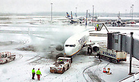 FEB 28 Snowfall at London Stansted Aiport