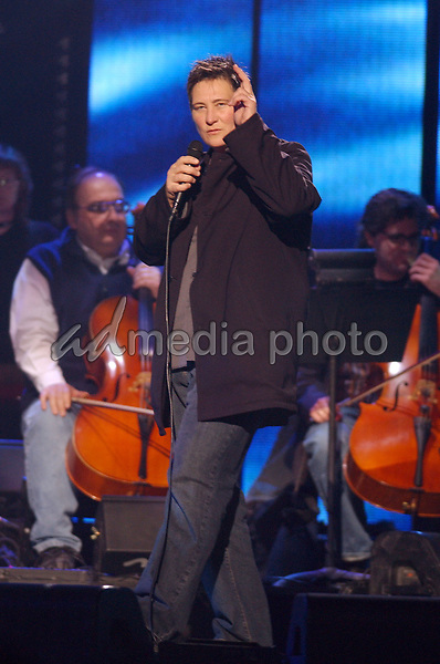 03 April 2005 - Winnipeg, Manitoba - k.d. lang. The 2005 Juno Awards held at the MTS Centre. The Juno Awards are annually awarded to Canada's best musician's. Photo Credit: Laura Farr/AdMedia