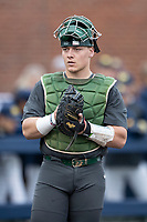 Michigan State Spartans catcher Adam Proctor (28) during the NCAA baseball game against the Michigan Wolverines on May 7, 2019 at Ray Fisher Stadium in Ann Arbor, Michigan. Michigan defeated Michigan State 7-0. (Andrew Woolley/Four Seam Images)